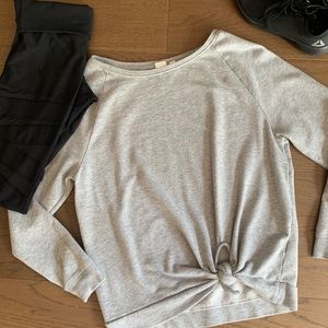 GAP front tie sweater